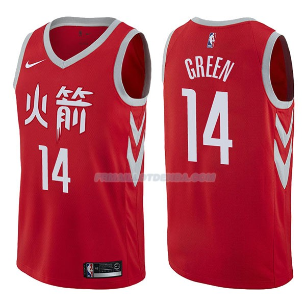 Maillot Houston Rockets Gerald Green Ciudad 2017-18 14 Rojo