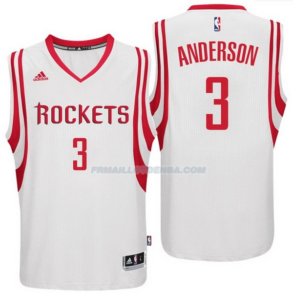 Maillot Basket Houston Rockets Anderson 3 Blanco