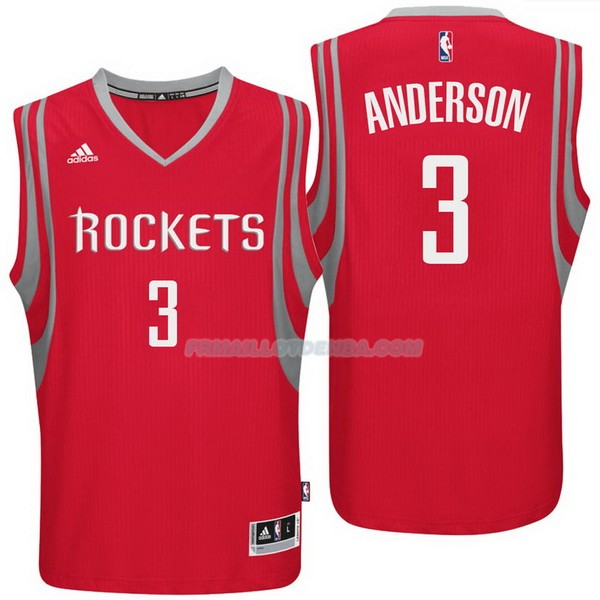 Maillot Basket Houston Rockets Anderson 3 Rojo