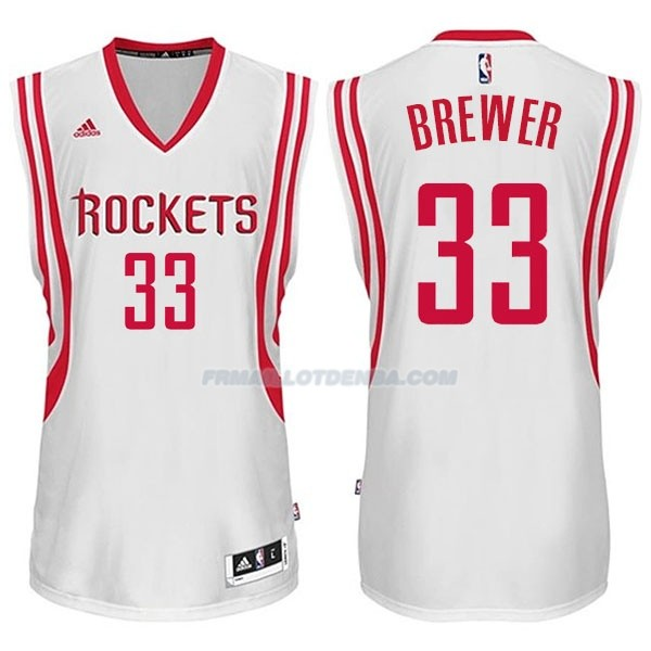 Maillot Basket Houston Rockets Brewer 33 Blanco