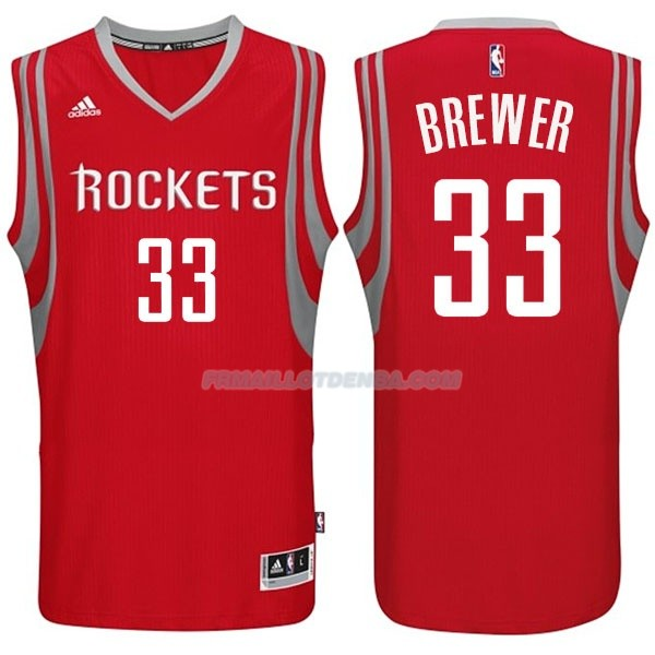 Maillot Basket Houston Rockets Brewer 33 Rojo