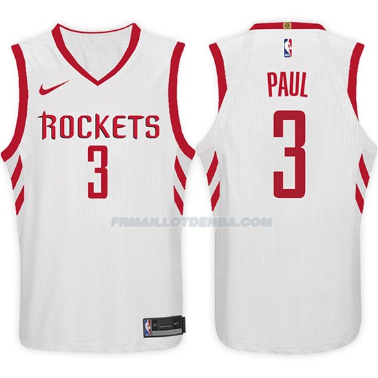 Maillot Basket Rockets Chris Paul 2017-18 3 Blanc