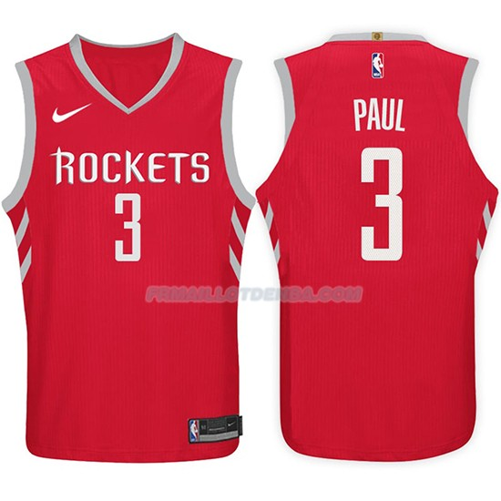 Maillot Basket Rockets Chris Paul 2017-18 3 Rouge
