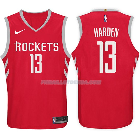 Maillot Basket Rockets James Harden 2017-18 13 Rouge