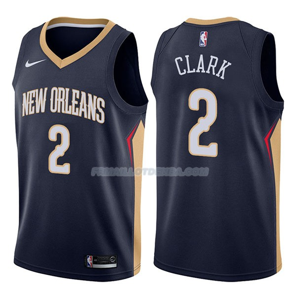 Maillot New Orleans Pelicans Ian Clark Icon 2017-18 2 Azul