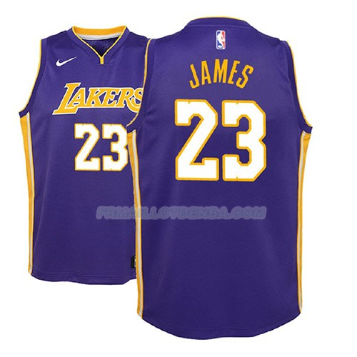 Maillot Enfant Los Angeles Lakers Lebron James Statement 2017-18 Volet