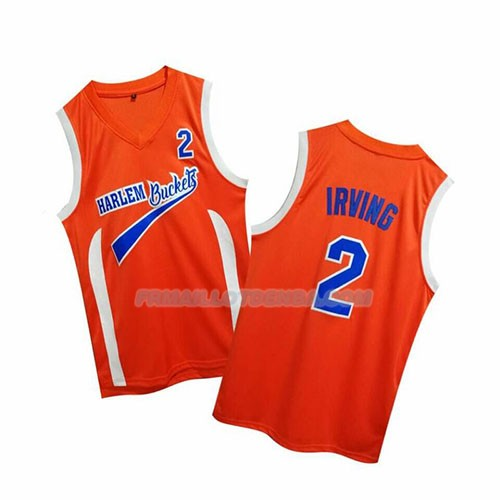 Maillot Uncle Drew Kyrie Irving Harlem Buckets Orange